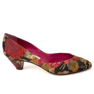 Casadei | Vintage Watercolor Floral Heel